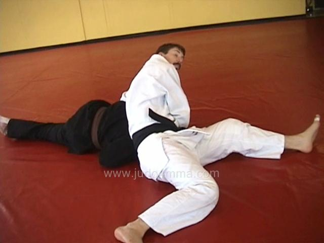 Click for a video showing a traditional Judo technique called Koshi Jime - Hip Choke, shown with counters